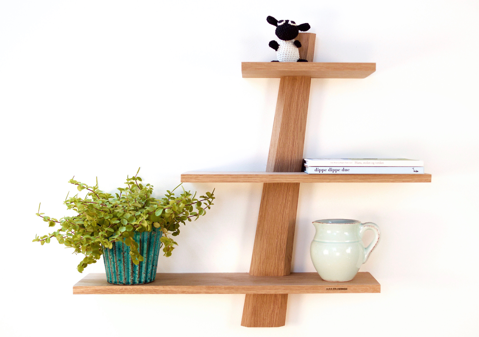 shelves in oak wood from Hjuler.Design Danish modern scandinavian nordic  design
