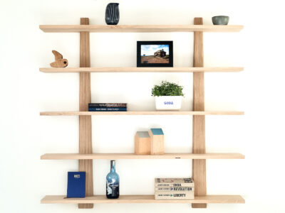 Hylde design moderne stor opbevaring træ egetræ enkel