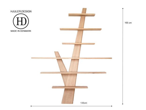Hylde hylder hyldetræ stor eg egetræ Hjuler.Design dansk skandinavisk nordisk enkelt design