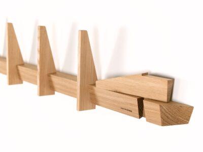 knagerække lang design egetræ knagerækker
