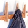 Knagetræ knagerække egetræ eg Hjuler.Design moderne olieret dansk design