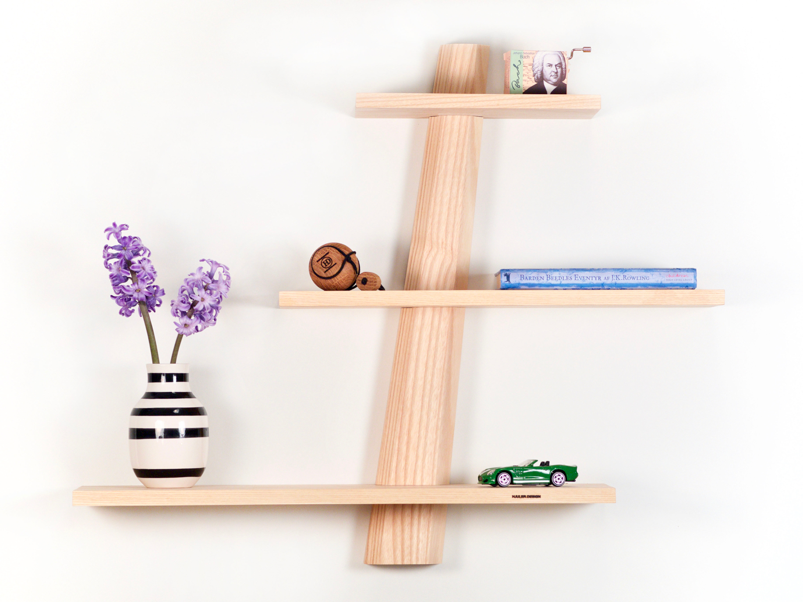 Modern Danish Design shelves in ash (white oil) from Hjuler.Design