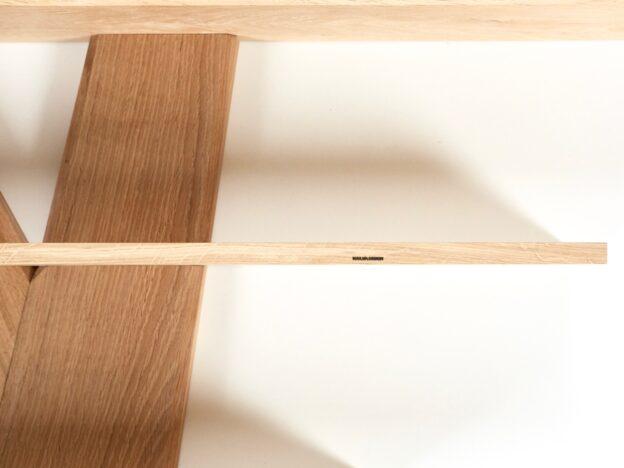 Reol hylder design træ knagetræ Hjuler.Design eg