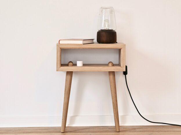 Sengebord natbord design træ egetræ