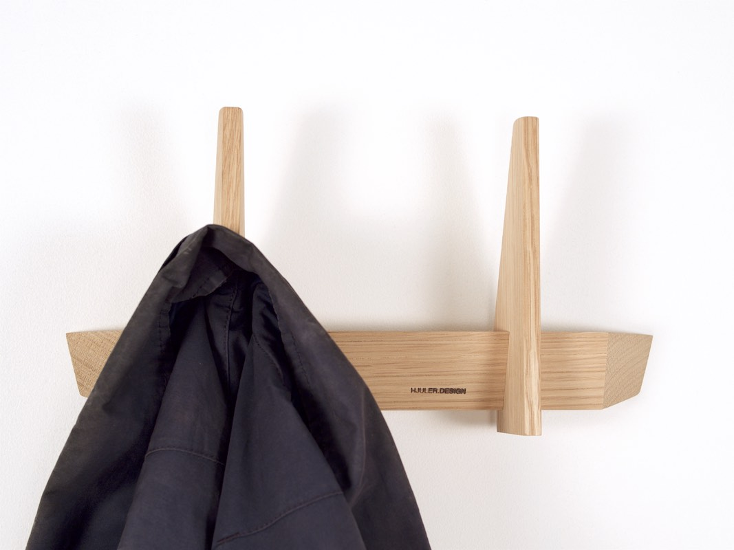 Simple coat racks made in oak wood from Hjuler.Design Danish modern scandinavian design interior nordic living