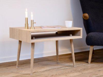 Sofabord design træ eg