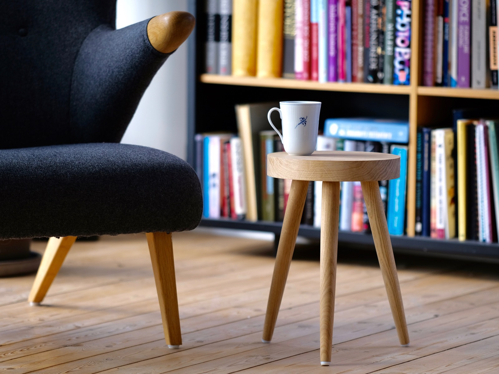 Stool in oak, Danish Design