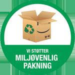 Hjuler.Design støtter MILJØVENLIG PAKNING