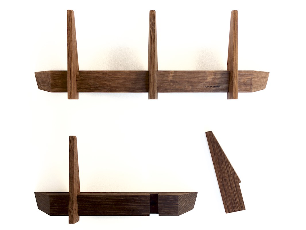 Simple coat racks made in smoked fumed oak wood from Hjuler.Design Danish modern scandinavian design interior nordic living